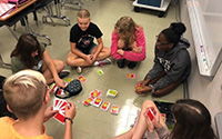 picture of students playing game in Falcon Focus class