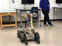 picture of police robot in class