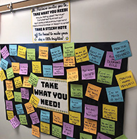 picture of positivity wall