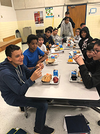 picture of students in cafeteria