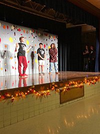 picture of students performing in drama