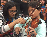 picture of students practicing music