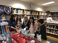 picture of students at book fair