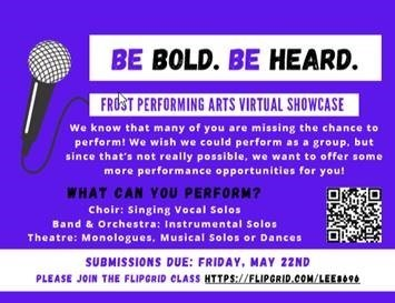 picture of frost performing arts virtual showcase