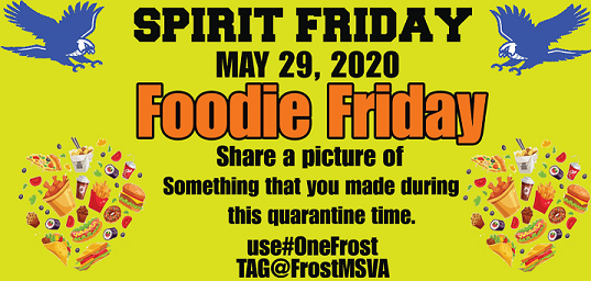 picture of May 29 spirit day foodie friday