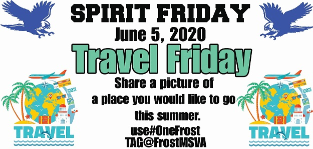 picture of spirit day June 5 travel friday