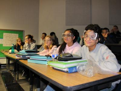 picture of students in science