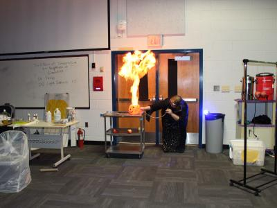 picture of Dr. Mike in science demo