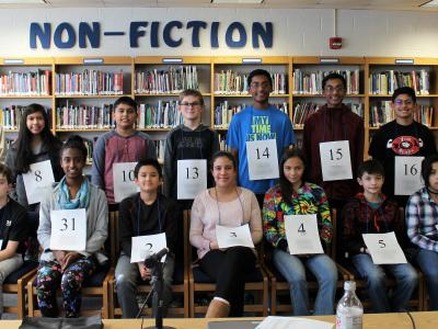 picture of spelling bee participants